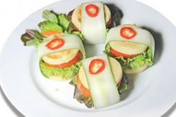 Singkong Saus Nanas atau Hamburger Singkong