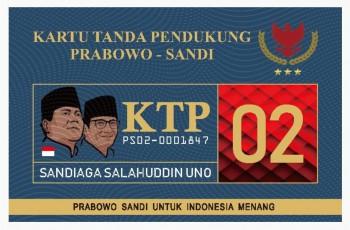 KTP Prabowo, Riuh Kampanye Berlanjut Usai Pemilu