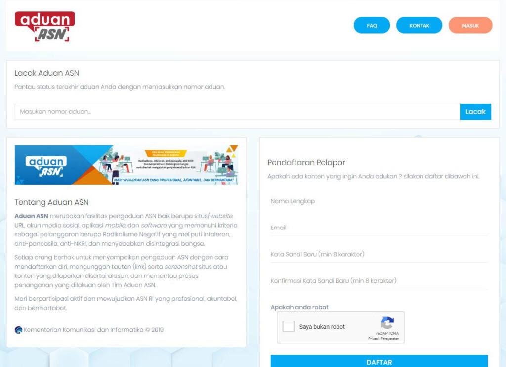 Portal Aduan ASN