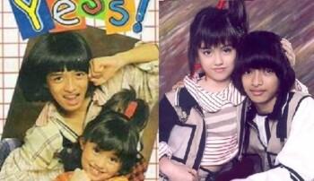 Album Agnes Monica dan Eza Yayang sebagai penyanyi cilik. (Istimewa)