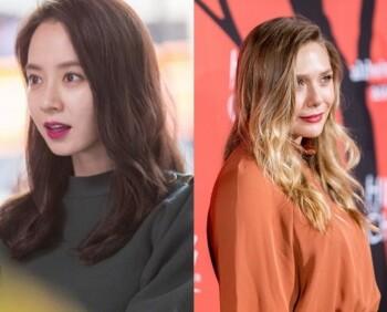 Song Ji Hyo dan Elizabeth Olsen. (Istimewa)