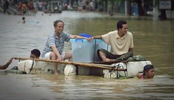Banjir banda. (Antara)
