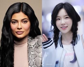 Kylie Jenner dan Tae Yeon. (Istimewa)