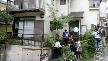 Rumah Satoshi Uematsu sesaat setelah ditangkap karena kasus penusukan di Sagamihara. (Japan Times)