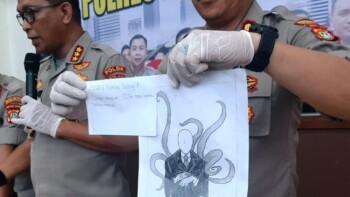 Polisi menunjukkan gambar NF,15, remaja yang bunuh bocah di Jakarta Pusat (liputan6.com)