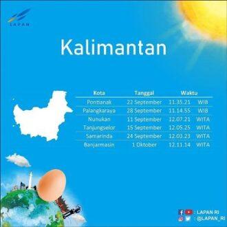 hari tanpa bayangan di Kalimantan (Detik)