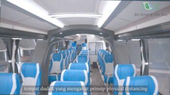 Bus social distancing PO Sumber Alam (detik)